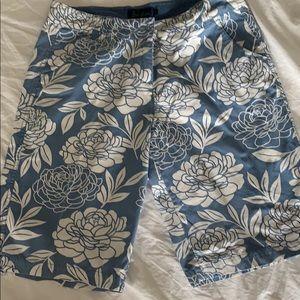 Boden floral shorts